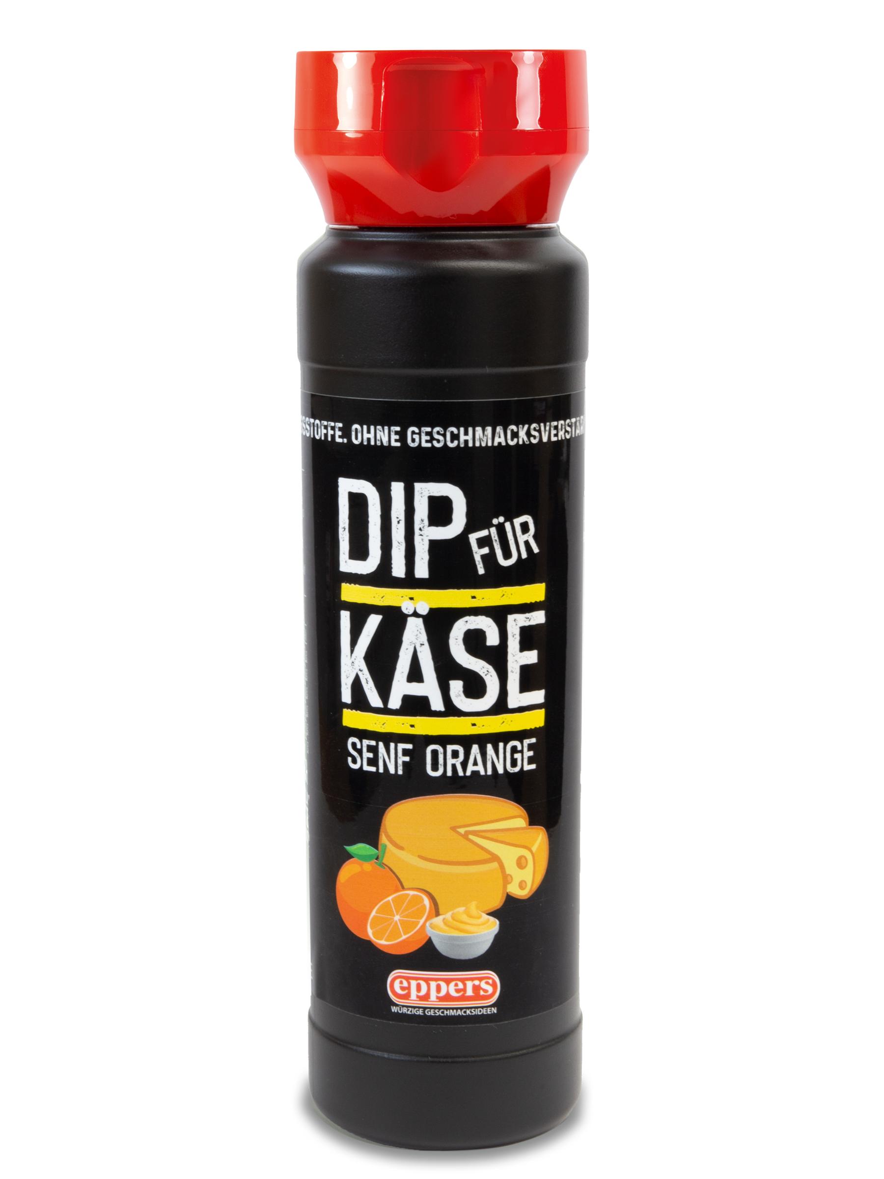 Dip für Käse Senf Orange